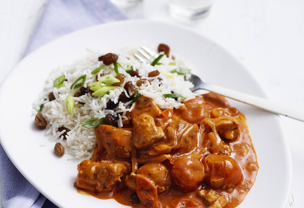 Butter chicken with sultana rice