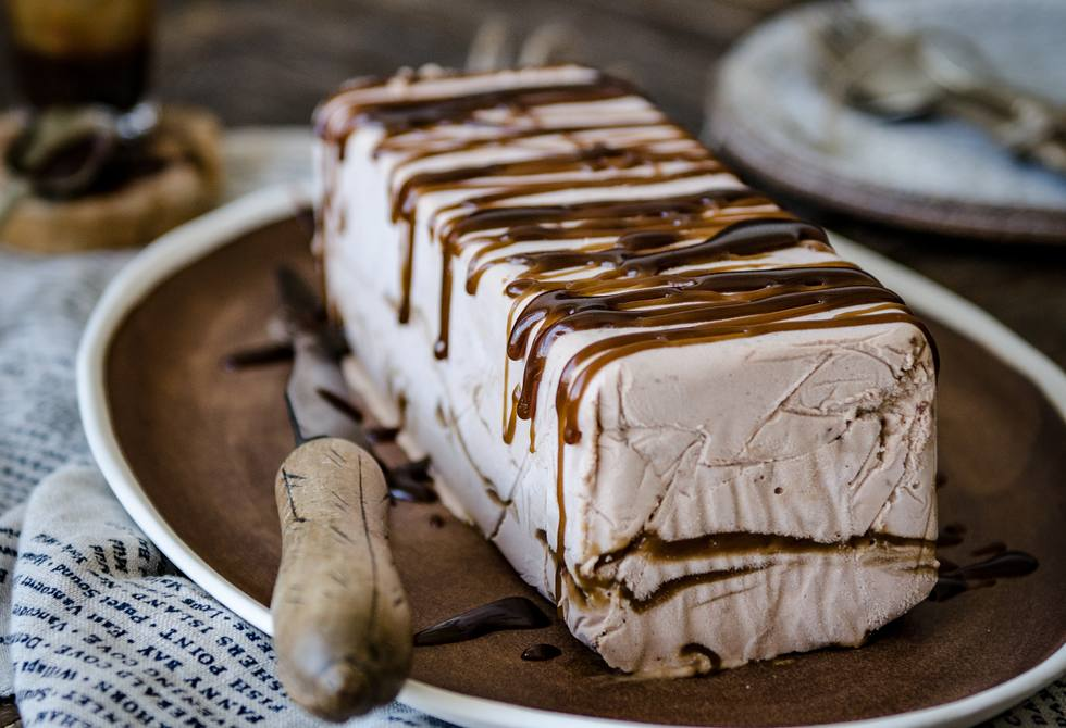 Nutella and salted butterscotch semifreddo