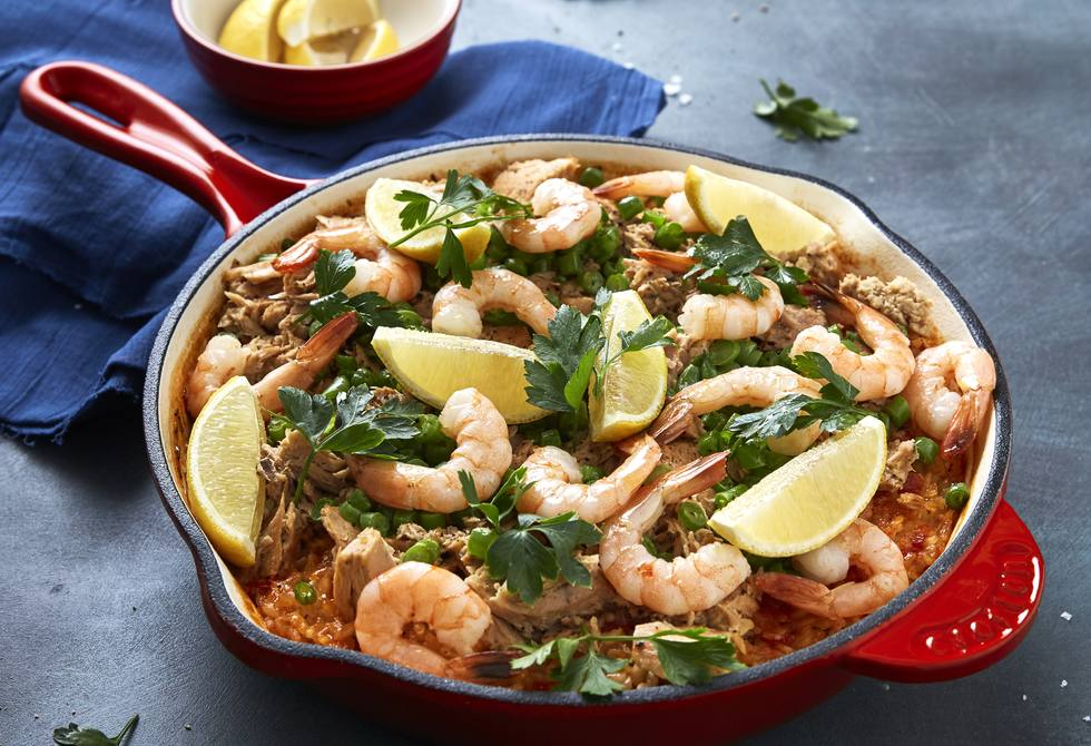 Seafood paella perfection