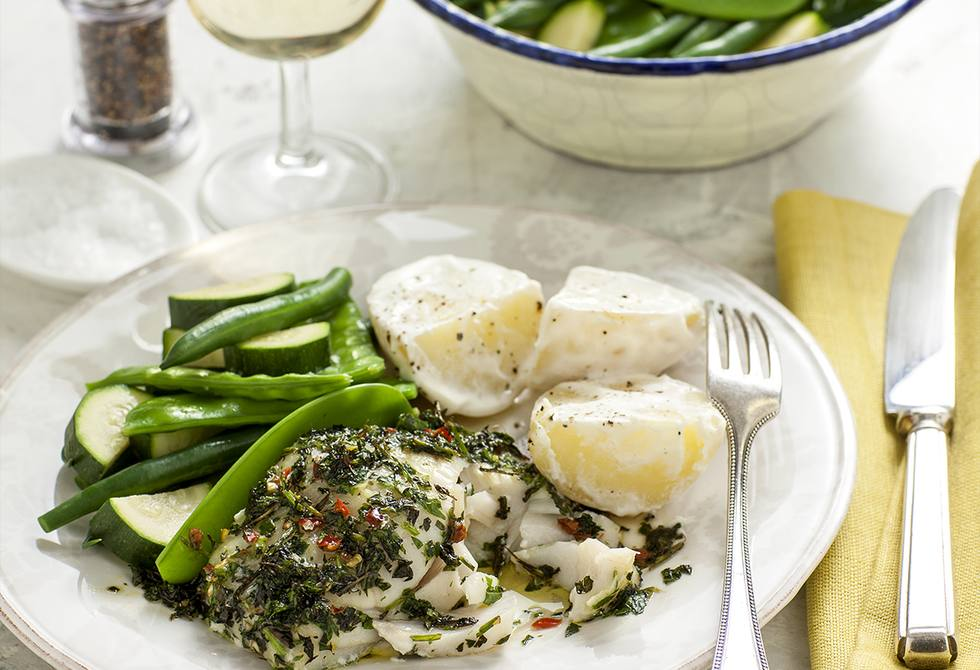 Herb baked fish