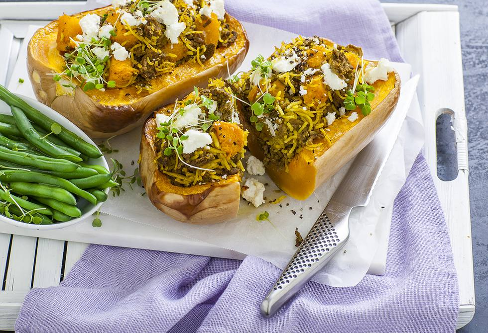Savoury stuffed pumpkins