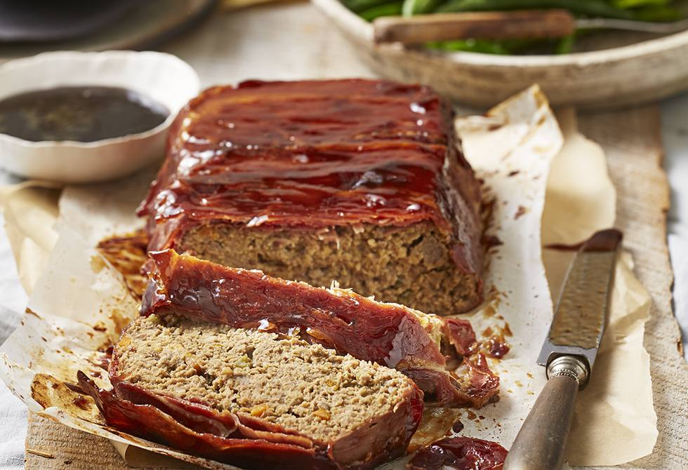Glam meatloaf in serrano ham