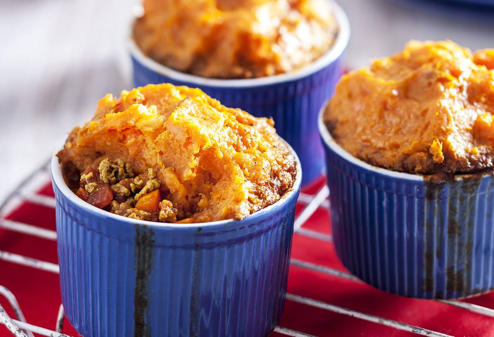 Curried quorn cottage pie