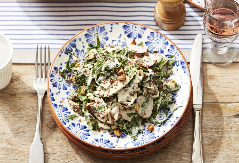 Chicken quinoa and roasted almond salad