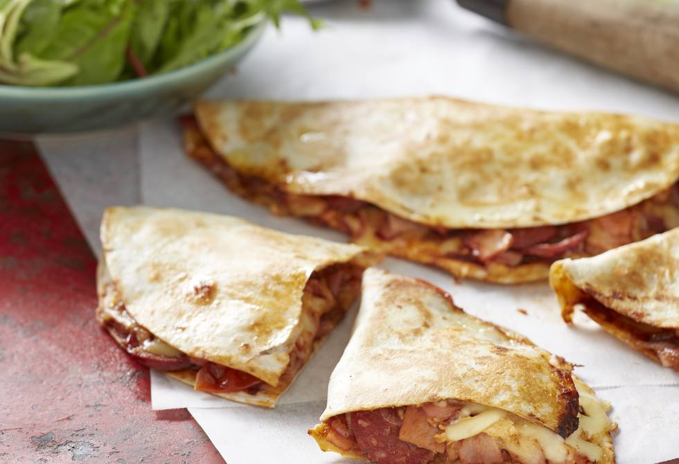 Barbecue meatlovers quesadillas