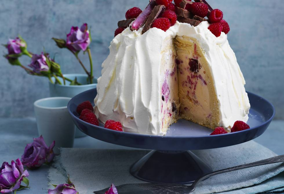 Turkish Delight ice-cream bombe