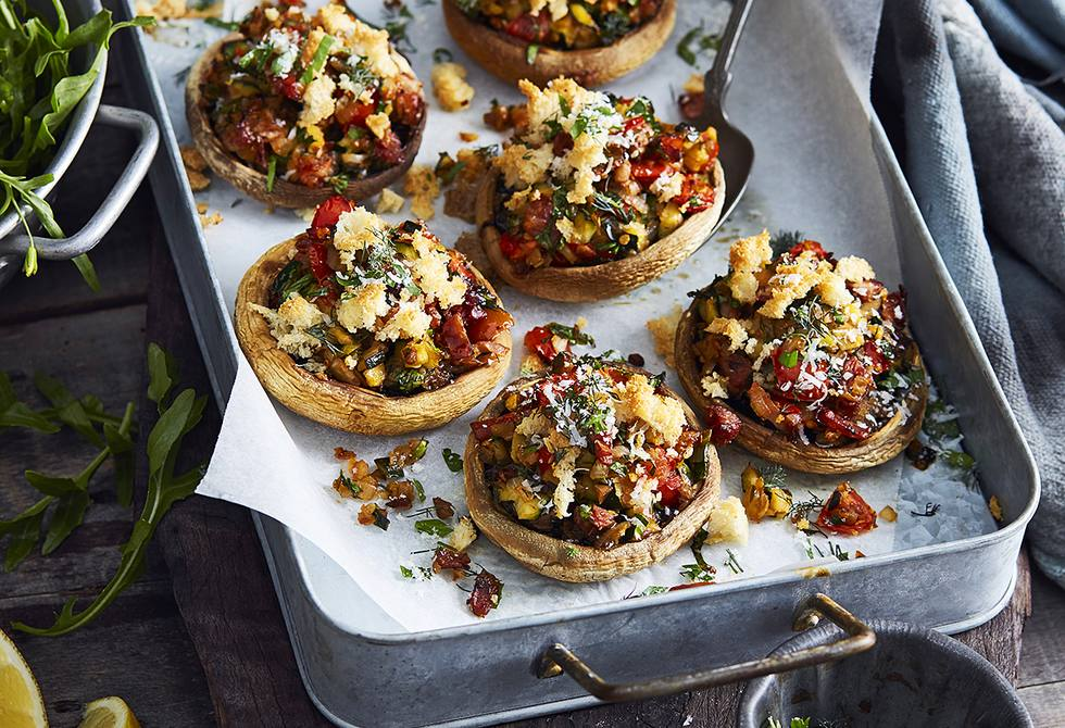 Pancetta and lemon stuffed mushrooms