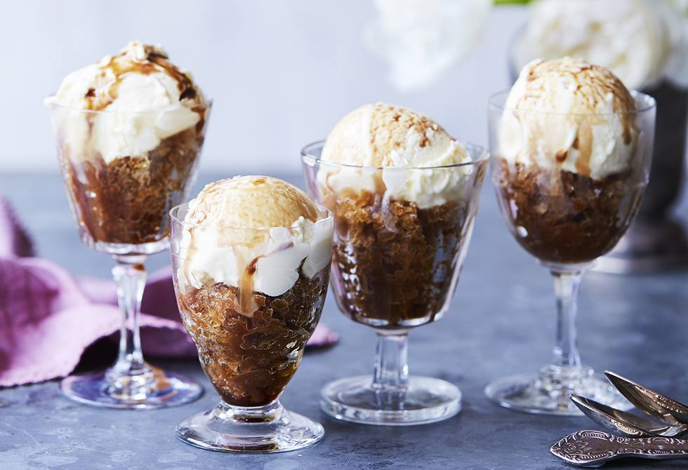 Coffee granita affogato
