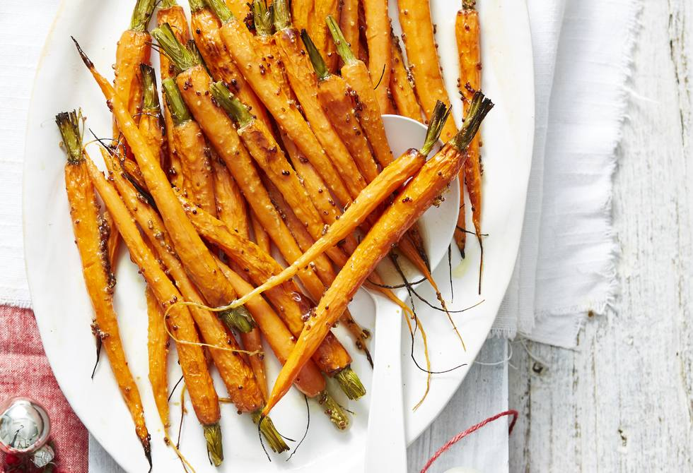 Maple glazed Dutch carrots