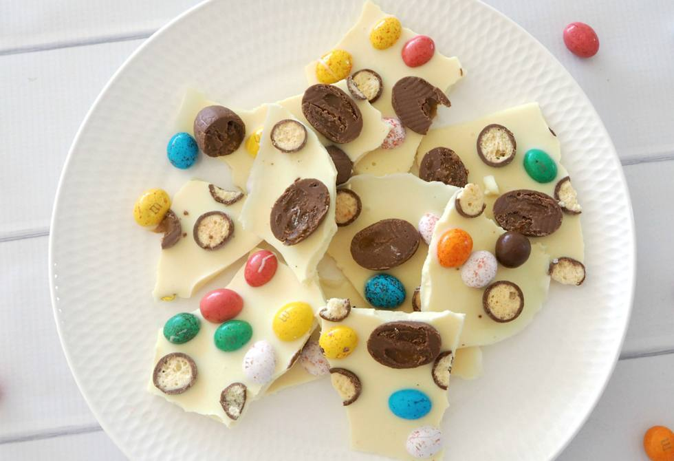 Easter egg chocolate bark