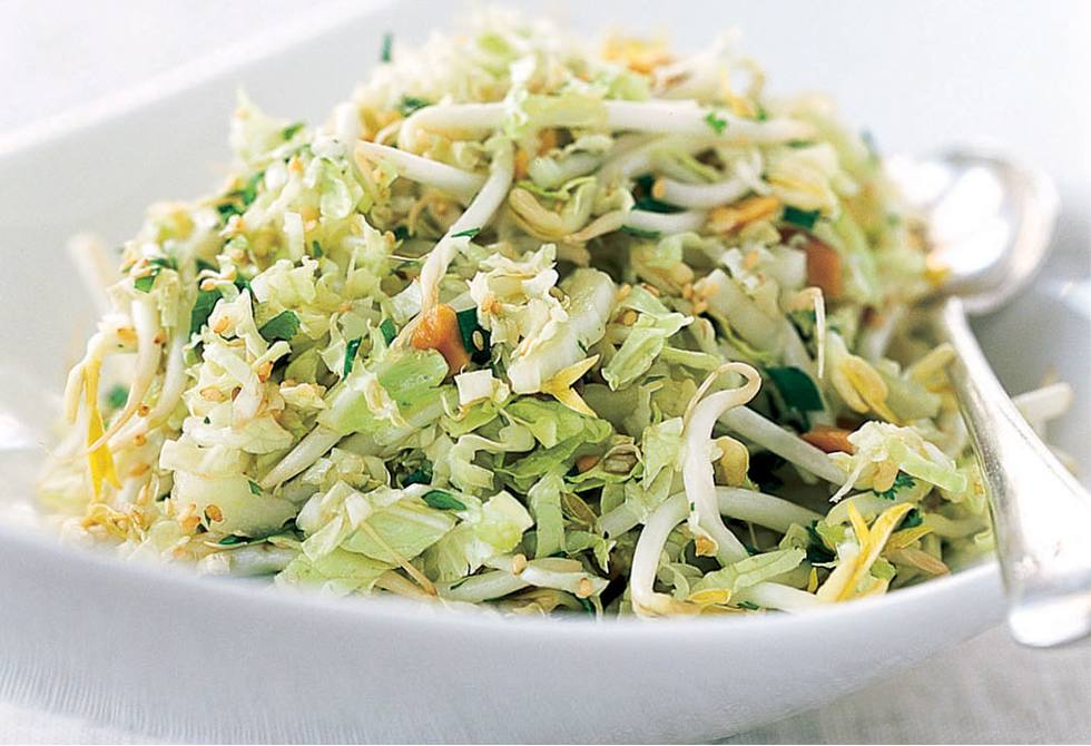 Asian slaw with sake dressing