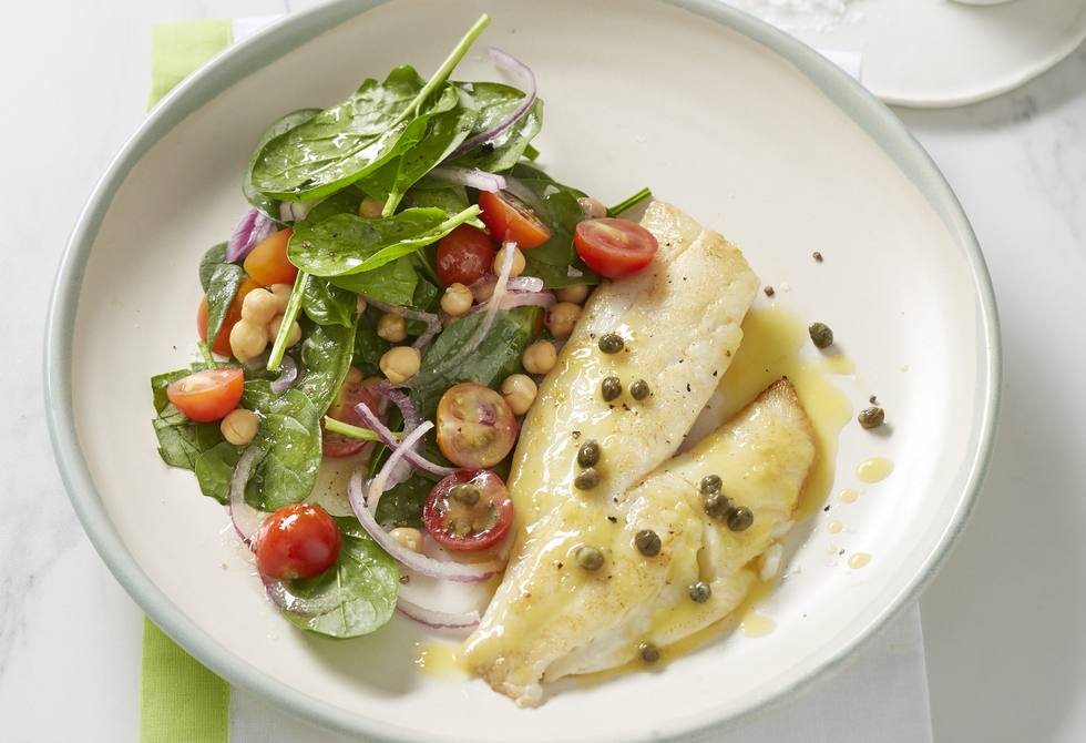 Fish with lemon caper butter recipe foodiful for Lemon butter caper sauce for fish