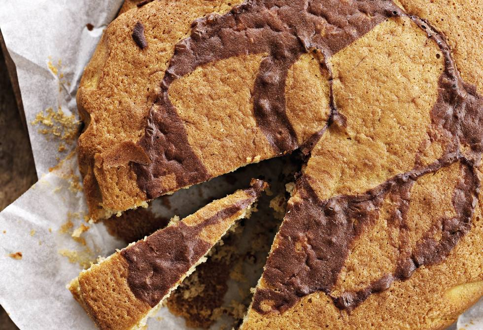 Olive oil marble cake
