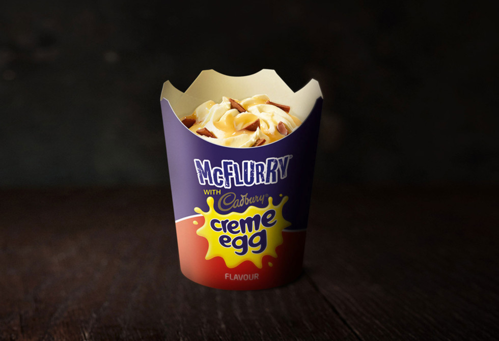 The Cadbury Creme Egg McFlurry is back at Maccas this Easter