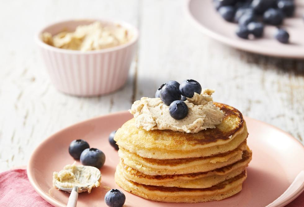 Banana cake pikelets with cinnamon butter