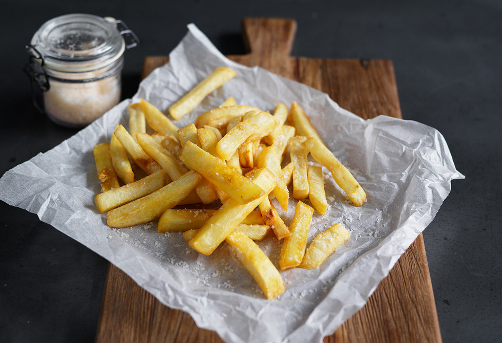 How to make chips: twice-cooked method