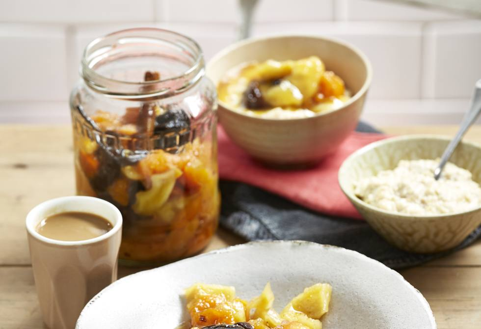 Fruity breakfast compote
