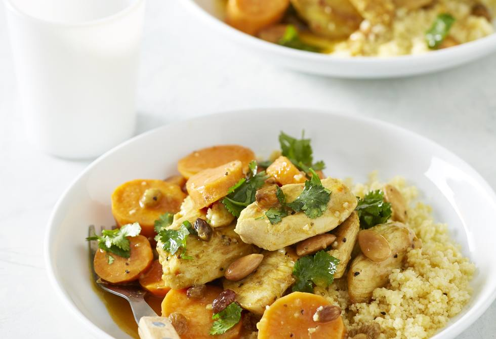 Moroccan chicken and sweet potato couscous