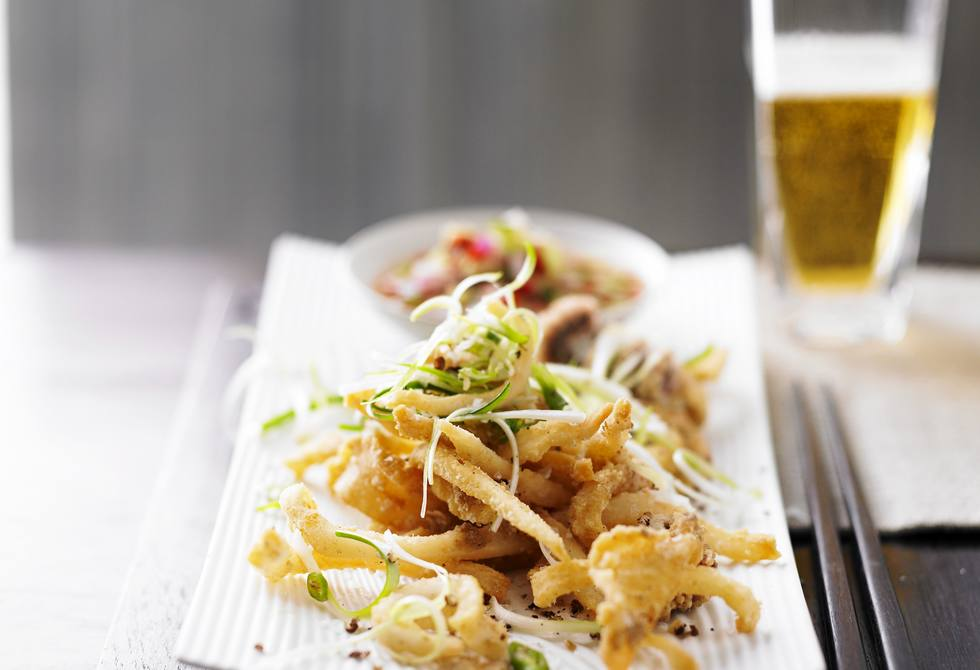 Salt & pepper squid with dipping sauce