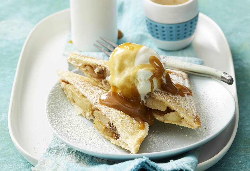 Sweet apple and cinnamon jaffles