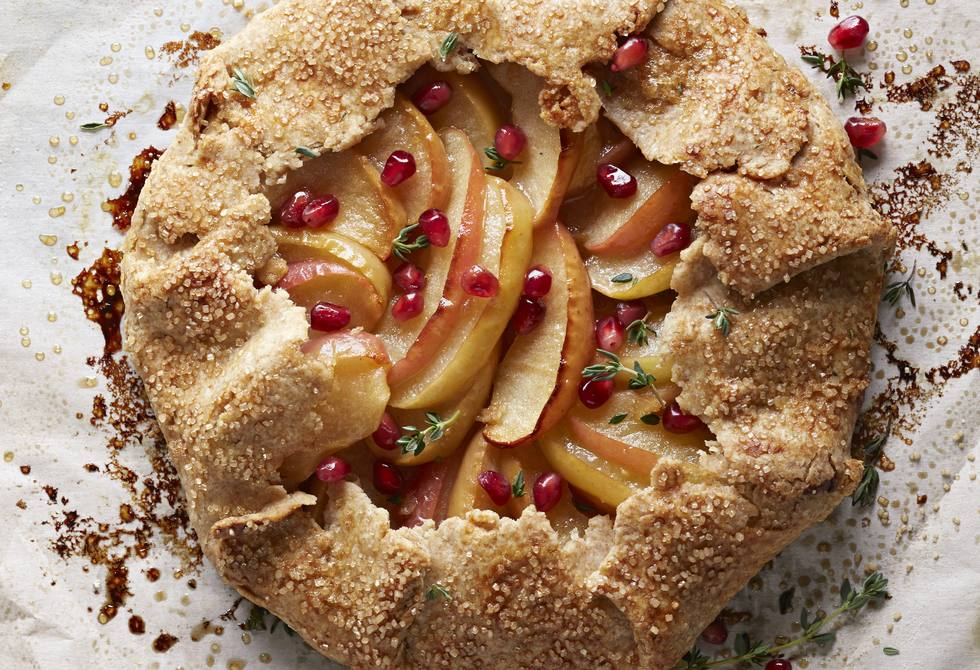 Apple and pomegranate galette