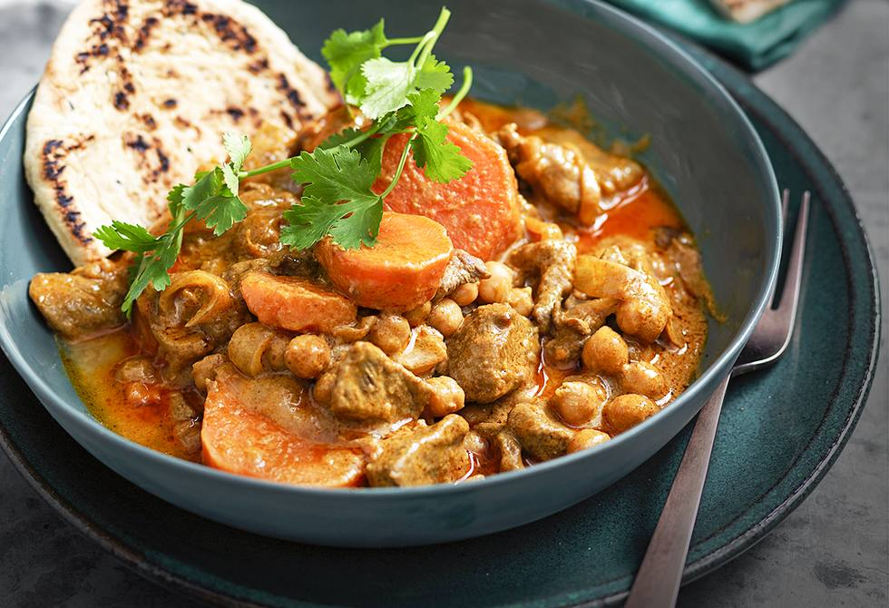 Lamb and sweet potato korma