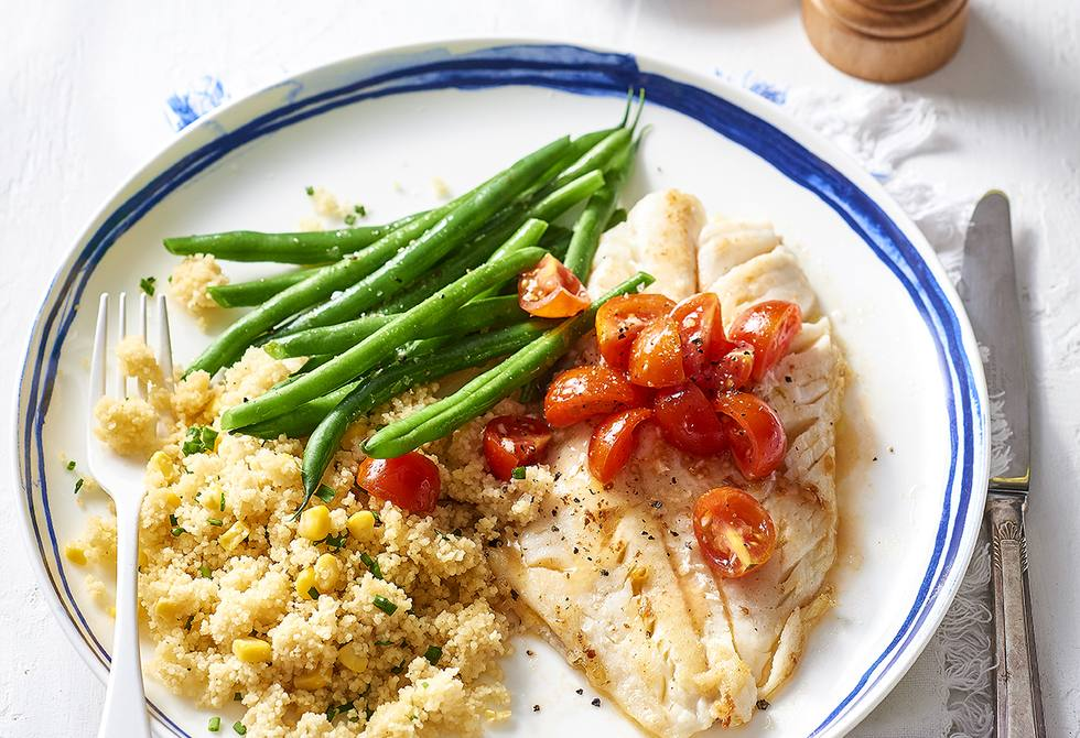 Fish with lime tomatoes