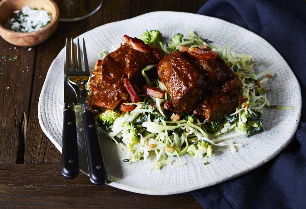 Slow-roasted beef short ribs