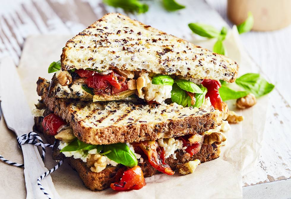 Chargrilled vegetable sandwich