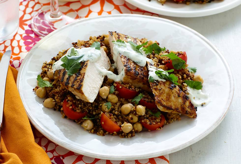 Chicken with spicy quinoa