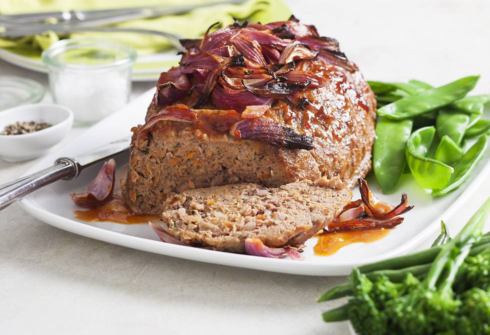 Meat loaf with chilli sauce