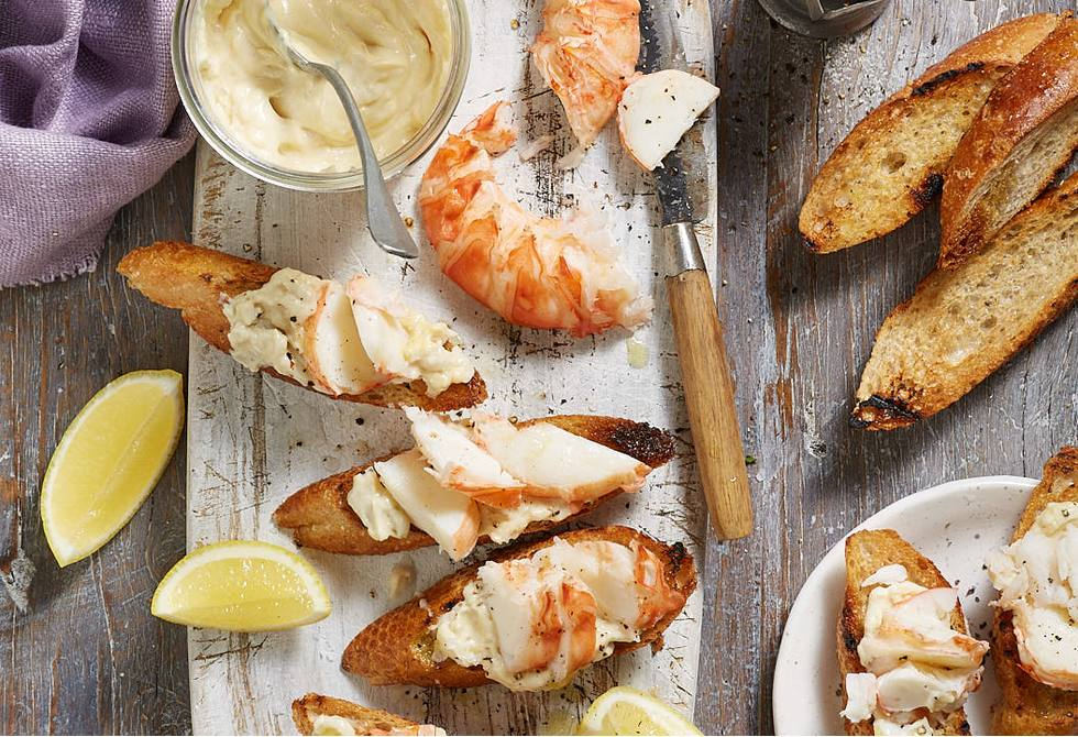 Lobster with almond aioli and grilled baguette