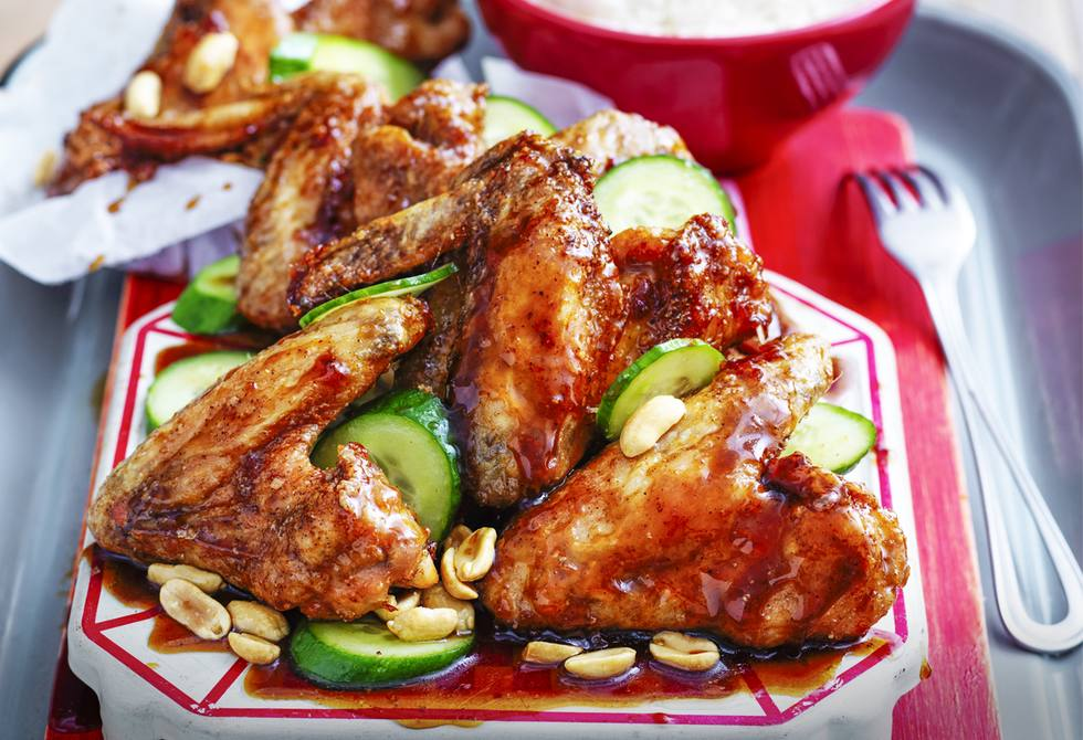 Sweet and sticky Indonesian chicken wings