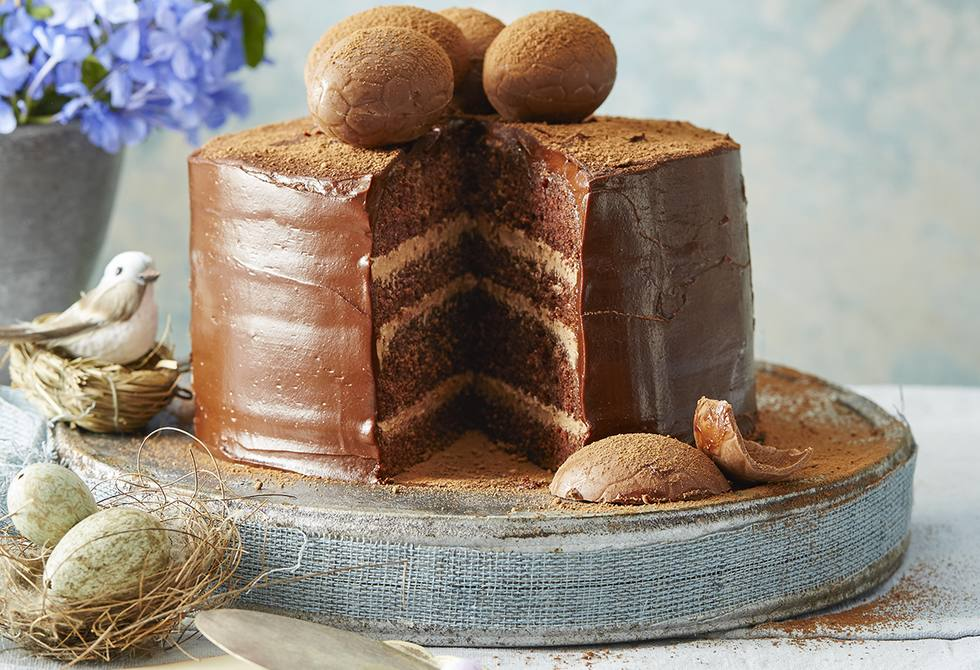 Easter chocolate layer cake