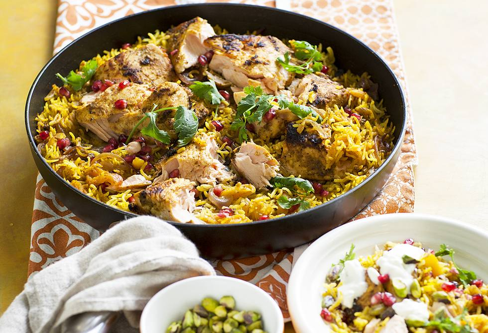 Indian salmon with rice