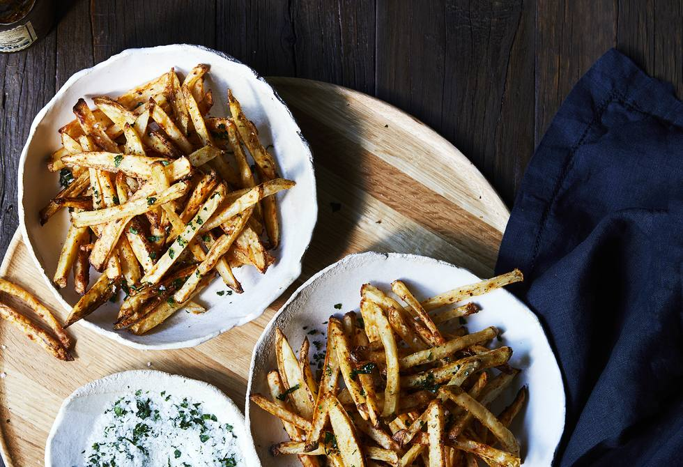 Seasoned baked french fries