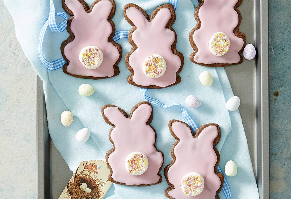 Chocolate bunny biscuits