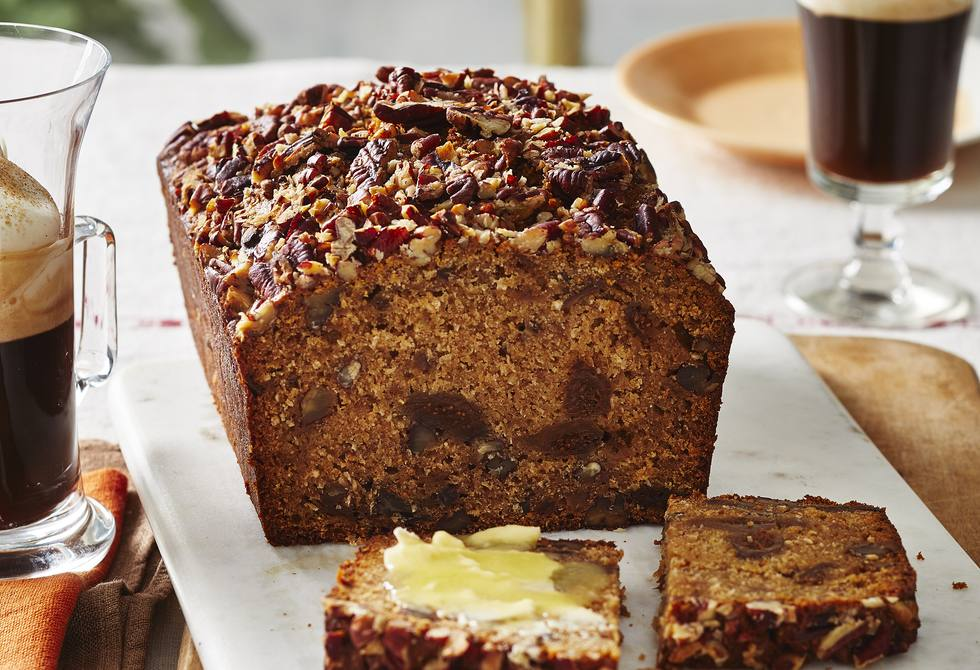 Fig, pecan and coconut loaf