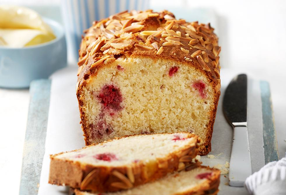 Gluten-free raspberry, almond and coconut loaf