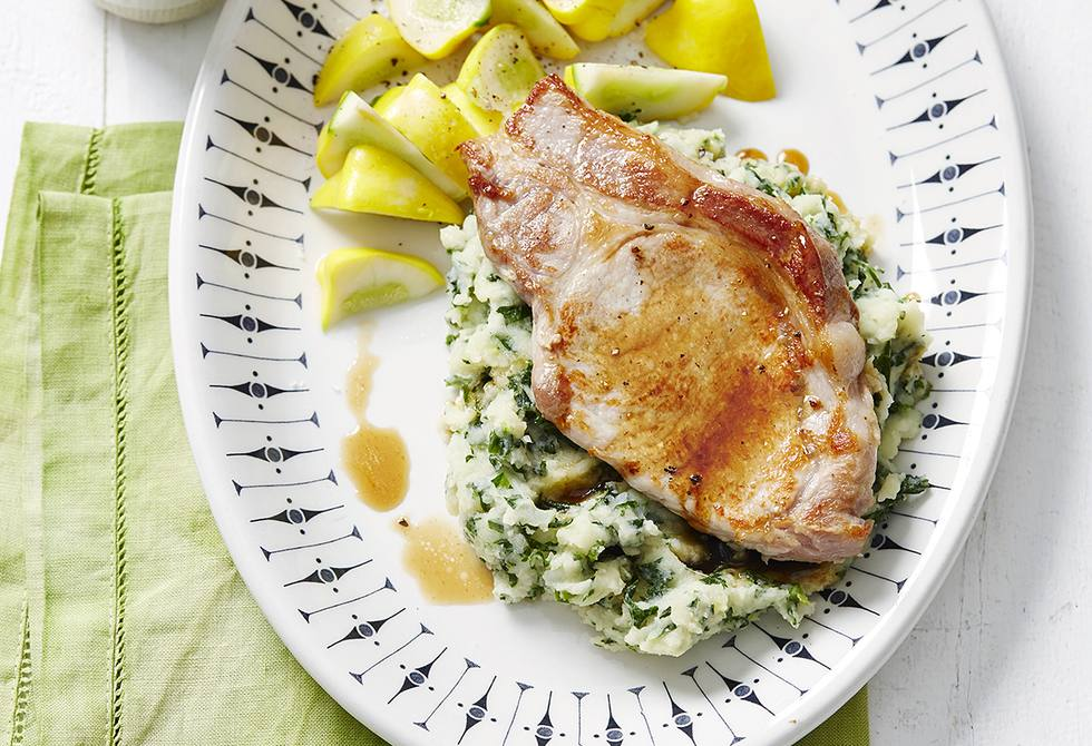 Pork with colcannon