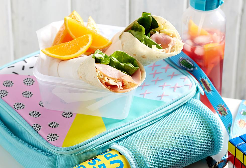 Ham and cheese tortilla wraps