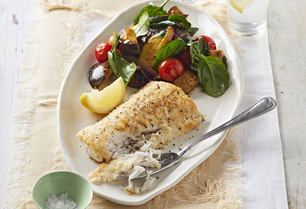 Fish with Moroccan vegies
