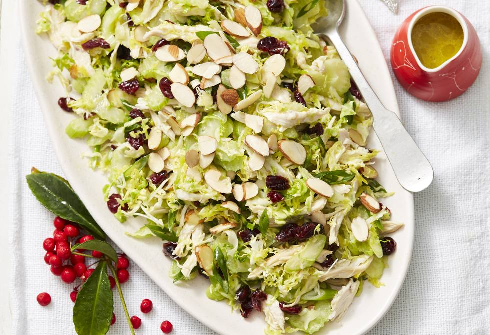 Chicken and cranberry salad with honey lemon dressing
