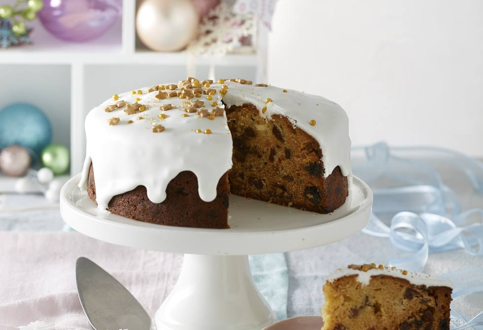 Golden honey Christmas cake
