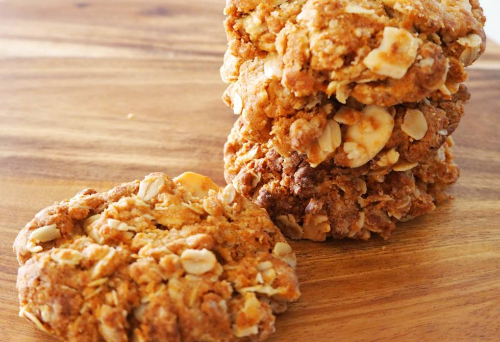 Almond Anzac biscuits