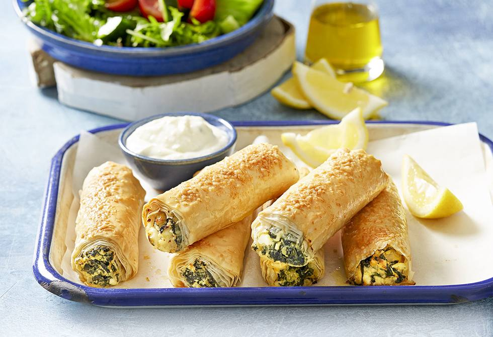 Greek Spanakopita Rolls Recipe Foodiful