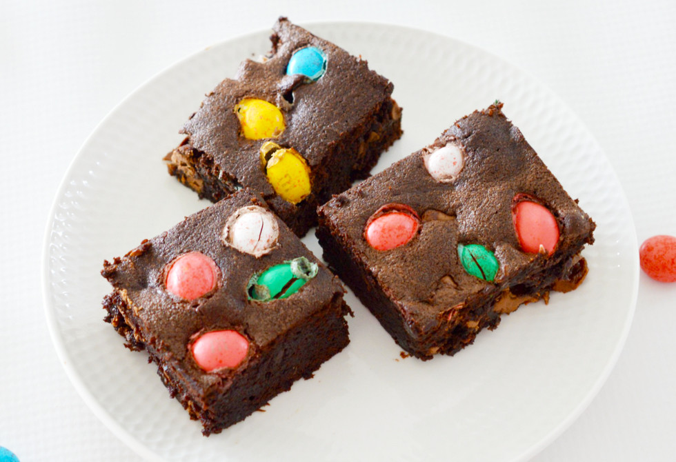 Create Bake Make's double Easter egg brownies