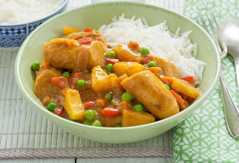 Pineapple and sausage curry