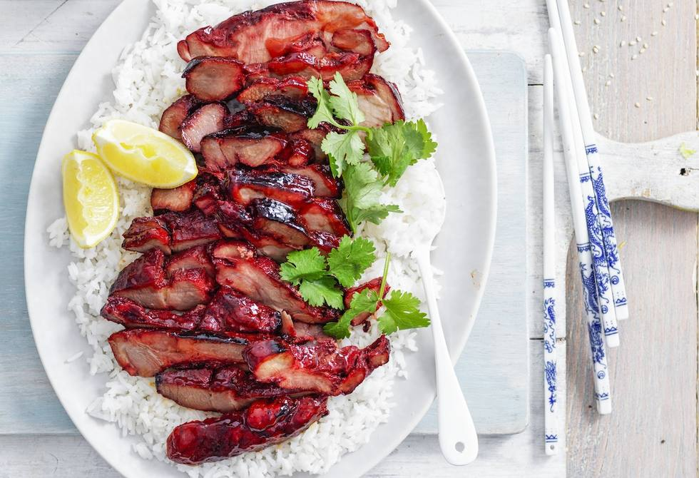Chinese five spice roast pork with Asian bean salad
