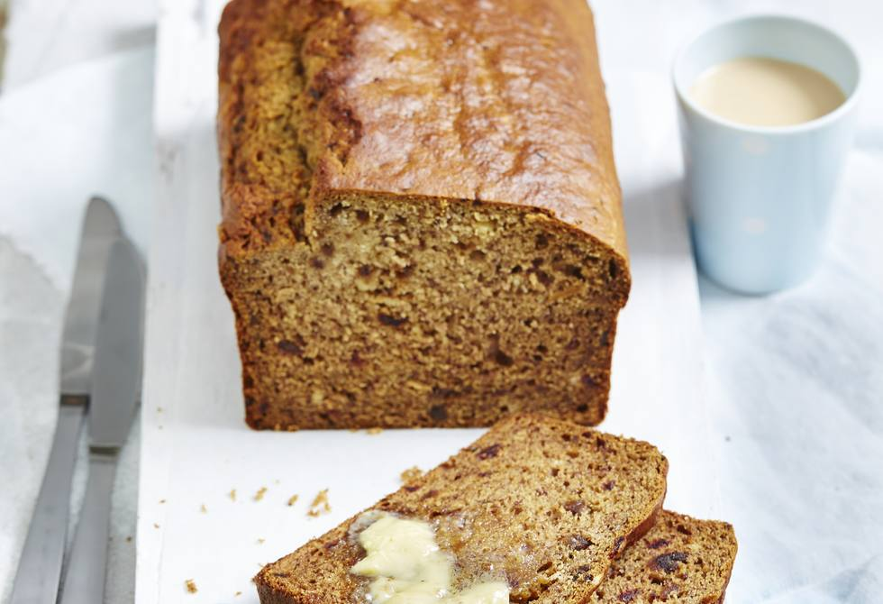 Processor banana date bread